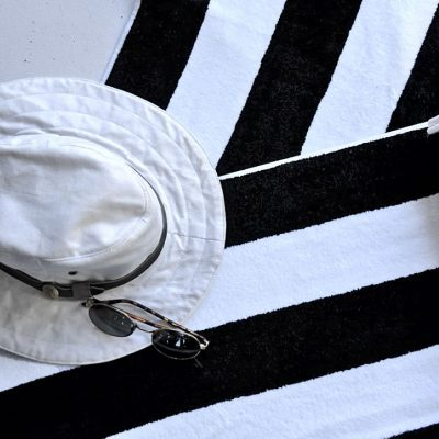 B&W Striped Pool Towel