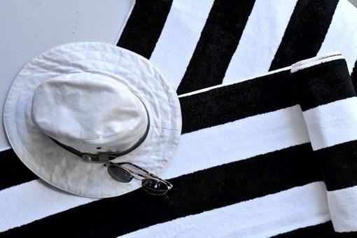 B&W Striped Pool Towel