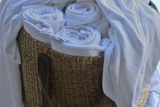 Malawi Palm Leaf & Leather Basket