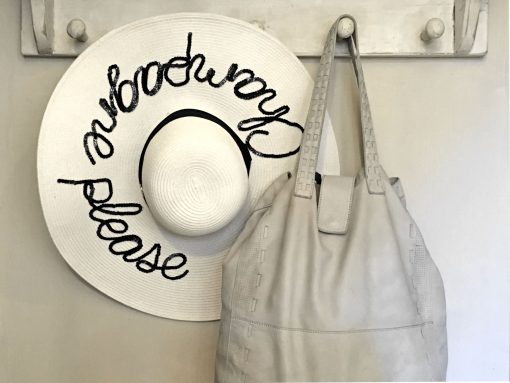 Leather Tote Frost Grey