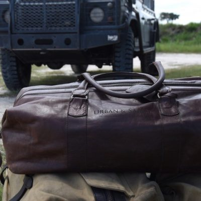 urban and safari weekender leather bag